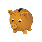 Brown piggybank vector image