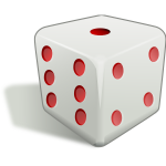 Dice with shadow