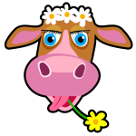 Vector graphics of daisy the cow