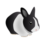 Vector image of friendly rabbit