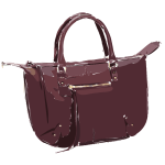 dark megenta purse