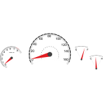 Vector illustration of car dashboard instruments