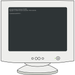 Vector graphics of ms dos computer screen