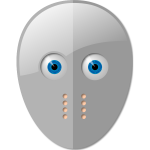 Fencing mask with eyes vector image