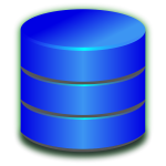 Blue database icon vector image