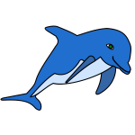 Dolphin in blue color