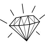 Illustration of shiny diamond