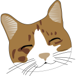 Vector image of smiling brown cat head