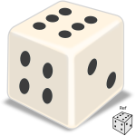 Vector illustration of shiny dice