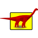 Red diplodocus vector image
