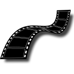 Black and white film strip vector image