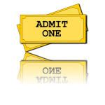 Admission ticket vector image