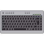 Vector graphics of a computer keyboard