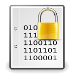 Encrypted document yellow sign vector clip art