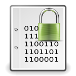 Encrypted document green icon vector graphics