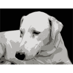 Photorealistic vector clip art of dogface