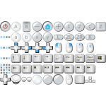 Collection of PC keyboard buttons