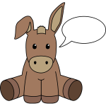 Donkey with speech bubble vector image