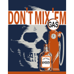Gas and alcohol safety poster