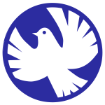 White dove of peace vector illustration