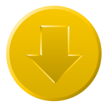 Golden download button vector graphics