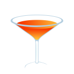 Vector illustration of orange cocktail