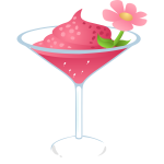 Vector image of pink cocktail