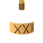 Three crosses labelled bottle vector image