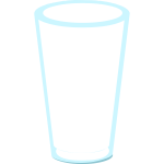 Narrow tumbler vector illustration