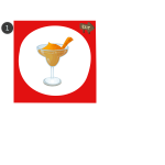 Vector graphics of icons for six different cocktails