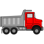 Dump truck vector drawing