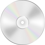 Illustration of DVD disc shiny side