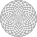 Radial checkered pattern grey color
