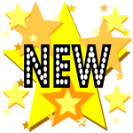 New on stars sign vector image