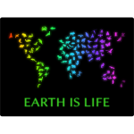 Earth Is Life Illustration