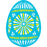 Blue Easter egg vector illustration