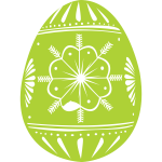 Green Easter egg vector image