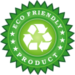 Eco friendly product label vector image