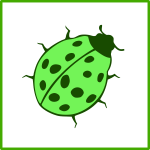 eco green beetle icon