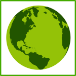 Eco Earth vector icon