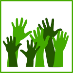 Eco hands vector icon