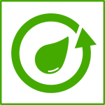 Eco water recycling vector icon