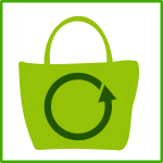 Eco green shopping vector icon