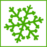 Eco snow vector icon