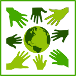Eco green solidarity icon vector illustration