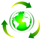 Recyclable Earth vector image