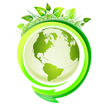 Eco Earth icon vector image