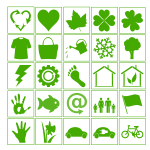 Eco vector icons images