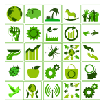 Eco vector icon set