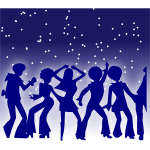 Dance party vector graphics